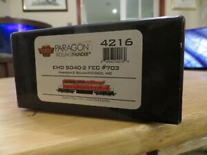 BROADWAY LIMITED IMPORTS 4216 EMD SD40-2 FEC No.703 PARAGON SOUND FITTED