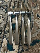 "4! Oneida Peninsula Castle Jordan Stainless Steel Salad Forks 7 1/4"" 4 Sets"