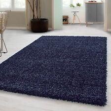 Small – Extra Large Size Thick Modern Plain Non Shed Soft Shaggy Rug Rec & Round 160x230 Cm Marineblau