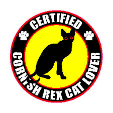 "Certified Cornish Rex Cat Lover 4"" Sticker"