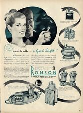 1946 Ronson PRINT AD 6 model Lighters Mastercase Mayfairs Whirlwind Standard