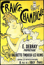 Art Poster - French Champagne - Deco Advert  A3 Print