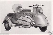 GOGGO M 200 V mit KALI BABY Beiwagen  * Motorroller * orig. Sammelbild * 1952