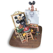 NEW Walt Disney and Mickey Mouse Figurine Self Portrait Park Exclusive VHTF