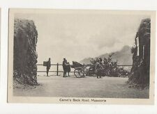 Camels Back Road Mussorie India Vintage Postcard 184a