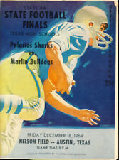 1964 2A Palacios vs Marlin Texas State Finals Program