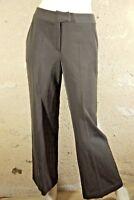 CAROLL Taille 38 Superbe pantalon habillé femme marron chocolat laine mélangée