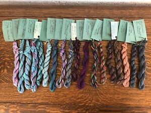 WATERCOLORS BY CARON HAND PAINTED PIMA COTTON THREAD LOT OF 18 (3)