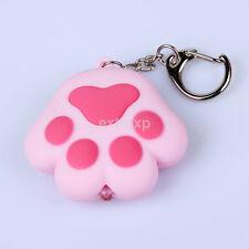Kawaii Cat Kitty Paw LED Keychain with Light Meow Sound Keyring Keyfob Gift Hot