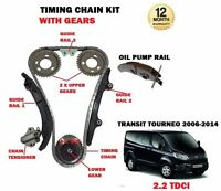 FOR FORD TRANSIT TOURNEO 2.2 TDCI 2006 > NEW TIMING CAM CHAIN KIT + GEARS SET
