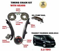 FOR FORD TRANSIT TOURNEO 2.2 TDCI 2006--> NEW TIMING CAM CHAIN KIT + GEARS SET
