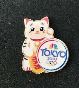 OLYMPIC Pin BADGE 2020 2021 Tokyo Media NBC Hello Kitty Lucky Cat Maneki-neko 2