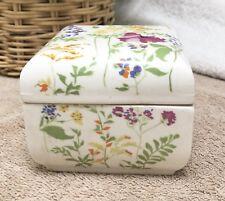 Elizabeth Arden Japan Multi-Color Floral Square Ceramic Storage Box EXC