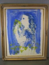 Jan Schlechter Duvall, Orig. Painting -Listed Dutch Indonesian Surrealist Artist