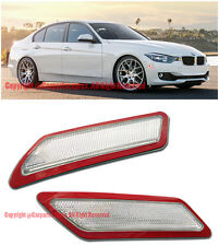 Crystal CLEAR Bumper Reflector Side Marker Lights For 13-15 BMW F30 F31 3-Series