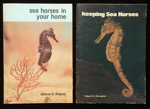 Sea Horses In Your Home As Pets Care Breeding Aquarium Food Vintage Books 1960s