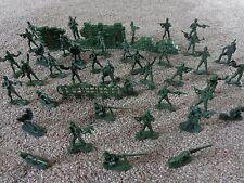 Soldados Juguete de plástico verde X40 con valla Verde.