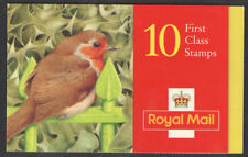 Gb Barcode Stamp Booklet Lx9 Christmas 1995 10 X 1St Robins (25p) Sg 1897 x 10