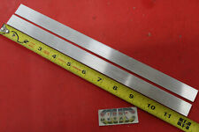 "2 Pieces 1/8"" X 3/4"" ALUMINUM FLAT BAR 12"" long 6061 T6511 New Mill Stock"