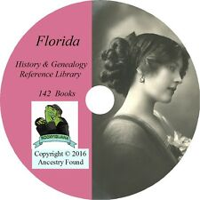 142 old books - FLORIDA  -  History & Genealogy Family Tree Ancestry - DVD CD FL