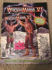 Vintage 1990 WWF WRESTLEMANIA VI 6 PROGRAM Print Ad HULK HOGAN ULTIMATE WARRIOR