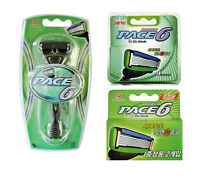Dorco Pace 6 1 Razor + 6 Cartridges Refills Total 7 Blades BRAND NEW SEALED