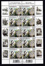 Gestempelte Briefmarken mit Eisenbahn österreichische