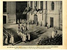 Fahnen zur Rekrutenvereidigung vor d.Kaiser im Langen Stall in Potsdam von 1901