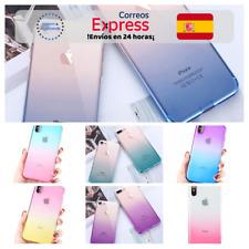 Funda Silicona con Degradado en 7 Colores para iPhone 7/8 Plus/X/Xr/Xs Max
