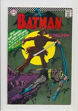 BATMAN #189 FN+ 6.5 1ST S.A. SCARECROW + ORIGIN RETOLD! *SILVER AGE* 1967