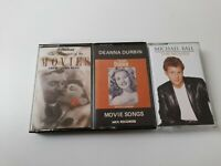 VINTAGE TV STAGE & MOVIE THEMES MUSIC CASSETTES X3 MICHAEL BALL & DEANNA DURBIN