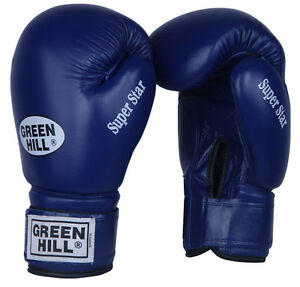 Green Hill boxing gloves super star training sparring bag pad leather 10-20 oz