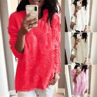 Sweater Women Tops Loose Pullover Tunic Coat Long Sleeve Plush Ladies Plus size