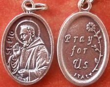 Saint St. Padre Pio of Pietrelcina Medal + Stigmatist + Healing, Relief + Z