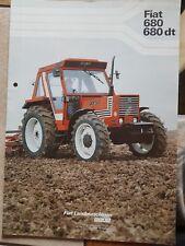 Prospekt Sales Brochure Fiat 680 dt Traktor Trecker Landtechnik Technische Daten