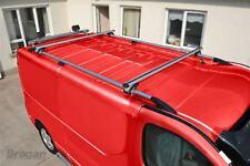 To Fit 02-14 Renault Trafic LWB Aluminium Roof Rails Cast Steel End + Cross Bars