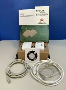 ASOKA Solar Link 9650 Ethernet 2 Adapters Model: PL9650-ETH W/ Cables & Software