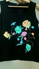 Black Embroidered top size 6-8??