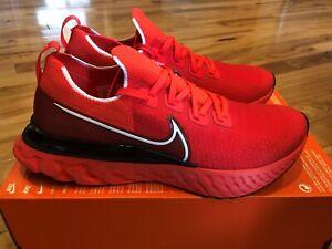 Nike React Infinity Fun Flyknit Bright Crimson White Black CD4371 600 Size 12