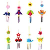 NEW Kids Animal Birds Wind Chimes Cloth Craft Kits DIY Puzzle Educational Toy