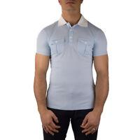 Armani Jeans Polo Uomo Col Celeste tg varie | -50 % OCCASIONE |