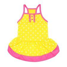 Vibrant Life Yellow Polka Dot Dog Dress, Small