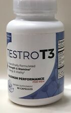 TESTRO T3 FOR MEN MAXIMUM PERFORMANCE SUPPLEMENT 60 CAPSULES NEW/SEALED