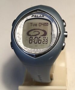 Polar F11 Ladies Light Blue Grey Watch Only NO HR Band Sml/Med Band