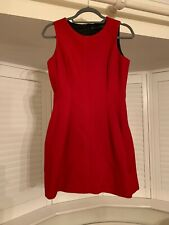ZARA RED WOOL MIX TULIP DRESS M 10 12 RARE