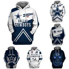 Dallas Cowboys Hoodies Football Sweatshirts Hooded Pullover Casual Jacket Coat