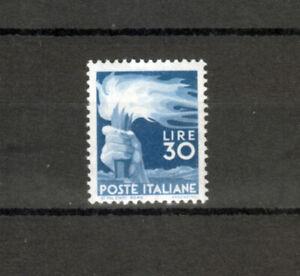 REPUBBLICA 1945 DEMOCRATICA 30 Lire Valore Nuovo MH Sassone € 500,00