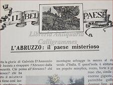 GIOVINEZZA Antica Rivista Illustrata 1909 n.14 Abruzzo Luini Alpinismo Londra