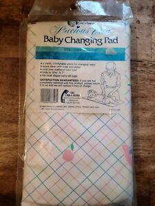 Vintage gerber baby changing pad precious care 1987 vinyl foam diaper bag NIP