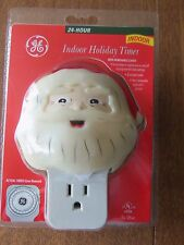GE Indoor Holiday Light Timer Santa 24 Hour New GE5101